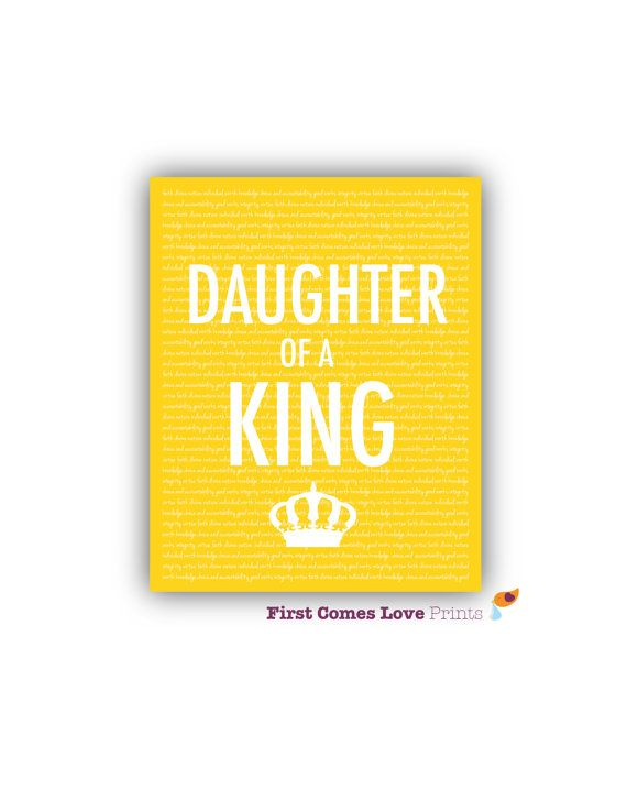 PRINTABLE Daughter of a King // Teen Wall Art // LDS Young Women ...