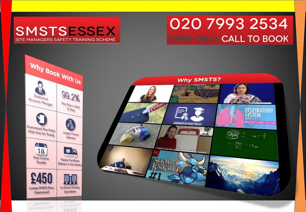 SMSTS Course in Southend Why book