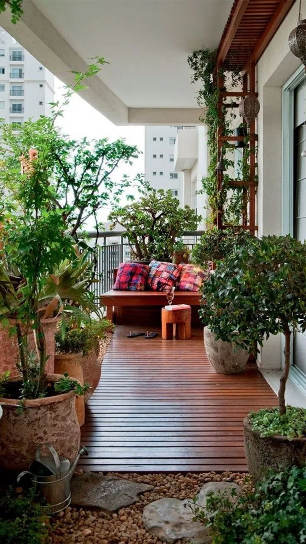 39 Small Balcony Garden Ideas Inspiration For Home And Apartment Apartment Balcony Garden Home Ideas Inspiration S Veranda Tasarimi Ev Ve Bahce Ic Bahce