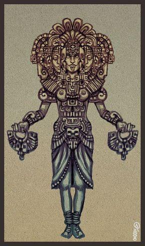 Xochiquetzal | tats | Aztecas dibujos, Cultura azteca ...