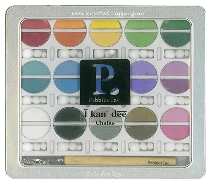 PEBBLES INC - I KANDEE - CHALK KIT 42001 - BASIC BRIGHTS
