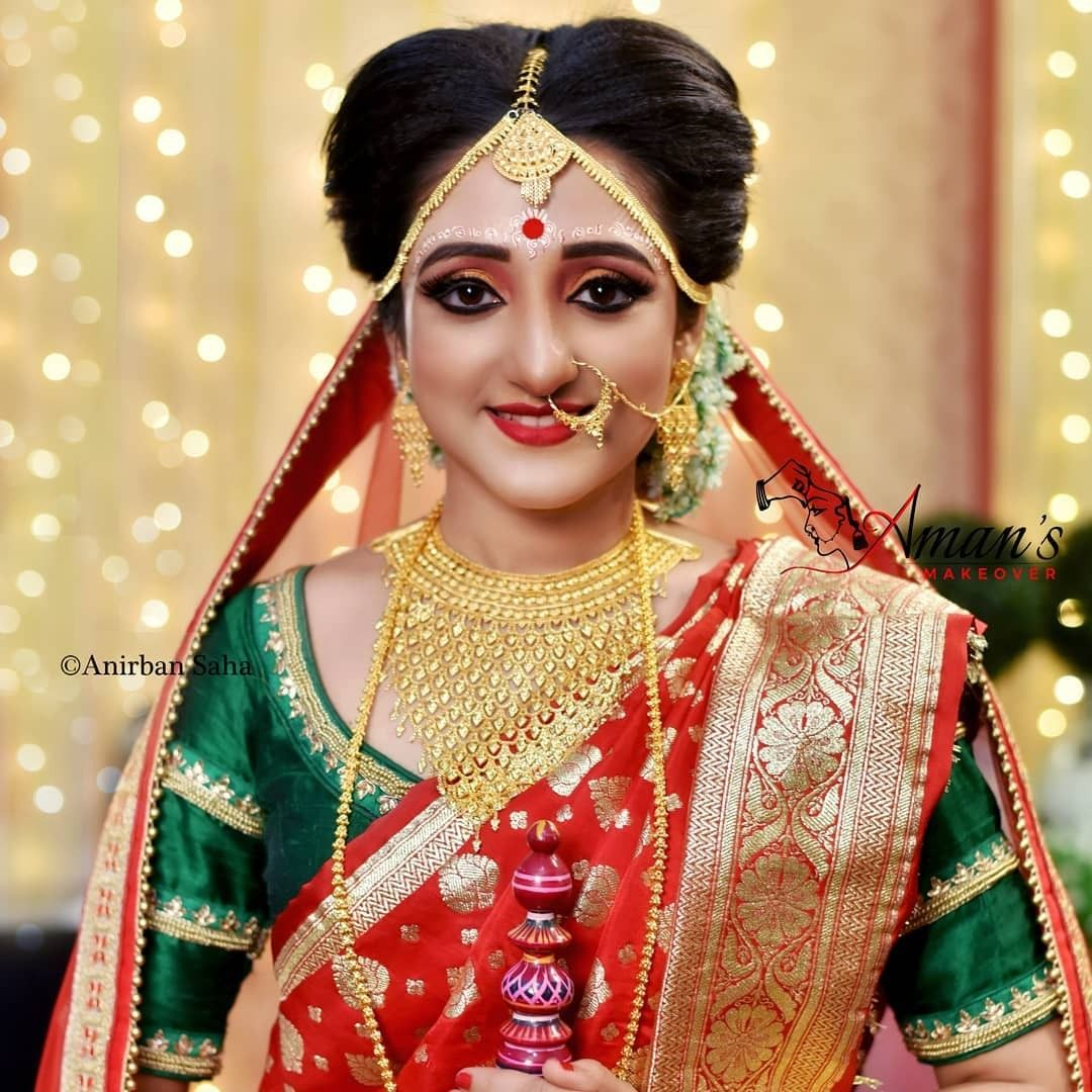 Pin By Divine Light On Brides And Beauties Mostly From India And Pakistan Bengali Bridal Makeup Wedding Dresses Lace Cheap Wedding Dress
