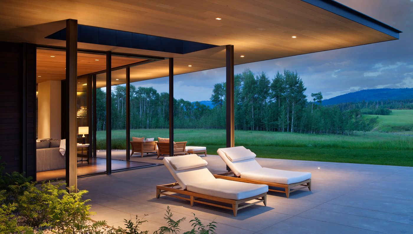 Aspensong—a 7,300-square-foot contemporary estate in Jackson Hole, Wyoming