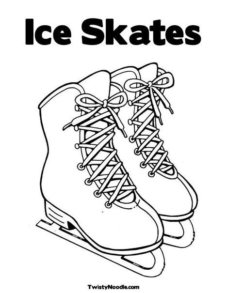 Ice Skates Coloring Pages : skates, coloring, pages, Skates, Coloring, Pages,, Printable, Skating