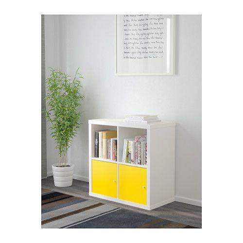 kallax tag re avec portes blanc jaune ikea jaune et. Black Bedroom Furniture Sets. Home Design Ideas