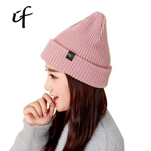 Women s Knitted Hats For Winter Autumn Hip Hop Hat Beanies Gorros For Women  Bonnet Bone Casual Caps Thick Female Skullies Hats 3fd4868cacd3