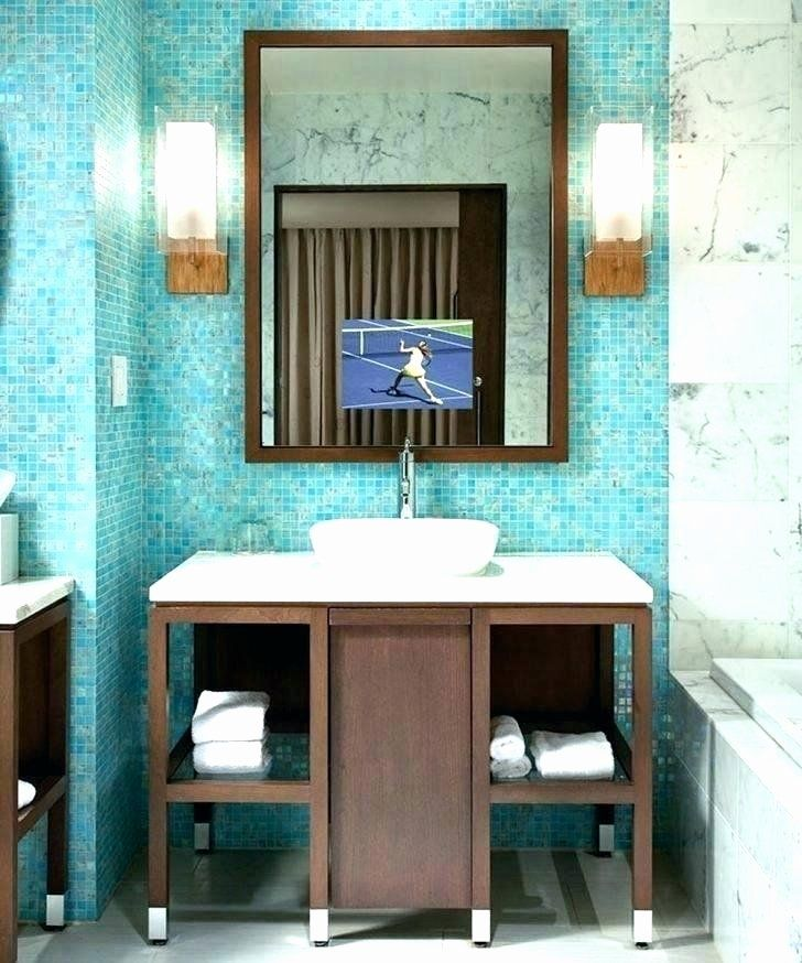 Tv In Bathroom Ideas Beautiful Bathroom Mirrors With Tv Behind It Jeremypearson In 2020