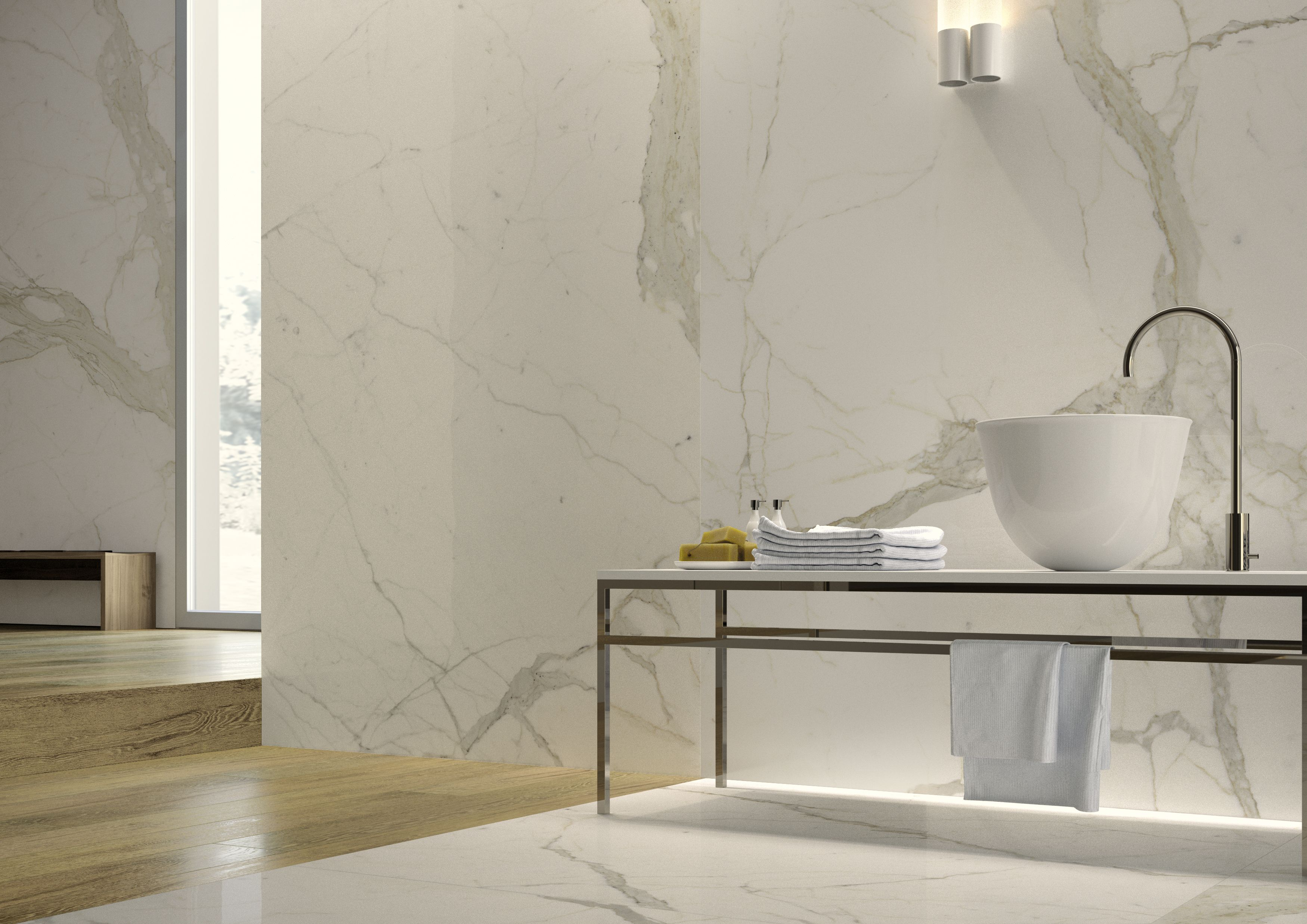 Porcelain Marble with Gold Accessories Google Search House
