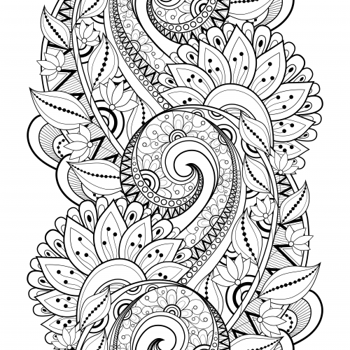 Advanced Flower Coloring Pages 3  To be There and Coloring