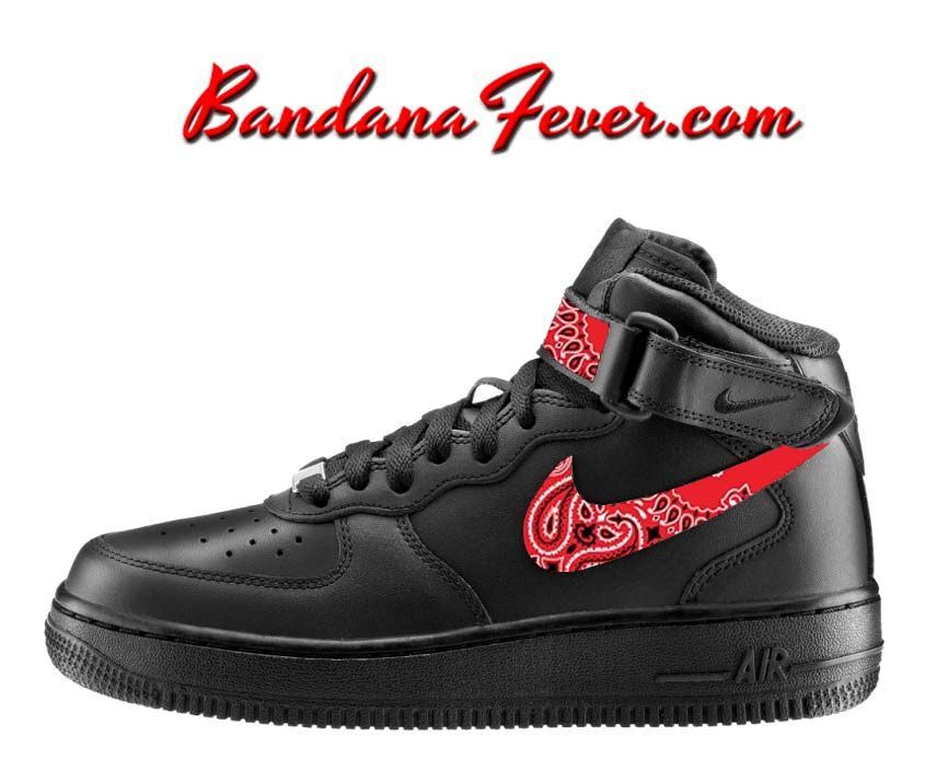 nike air force 1 black and red mid converse