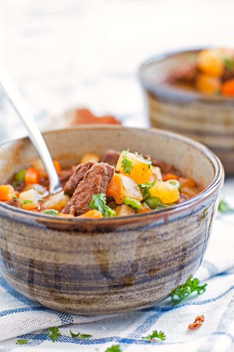 Simple Beef Stew | savorynothings.com | Easy beef stew ...