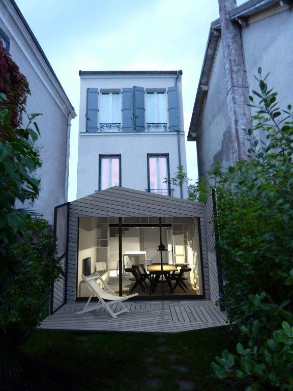 extension maison mitoyenne - Recherche Google BOIS \ MAISONS