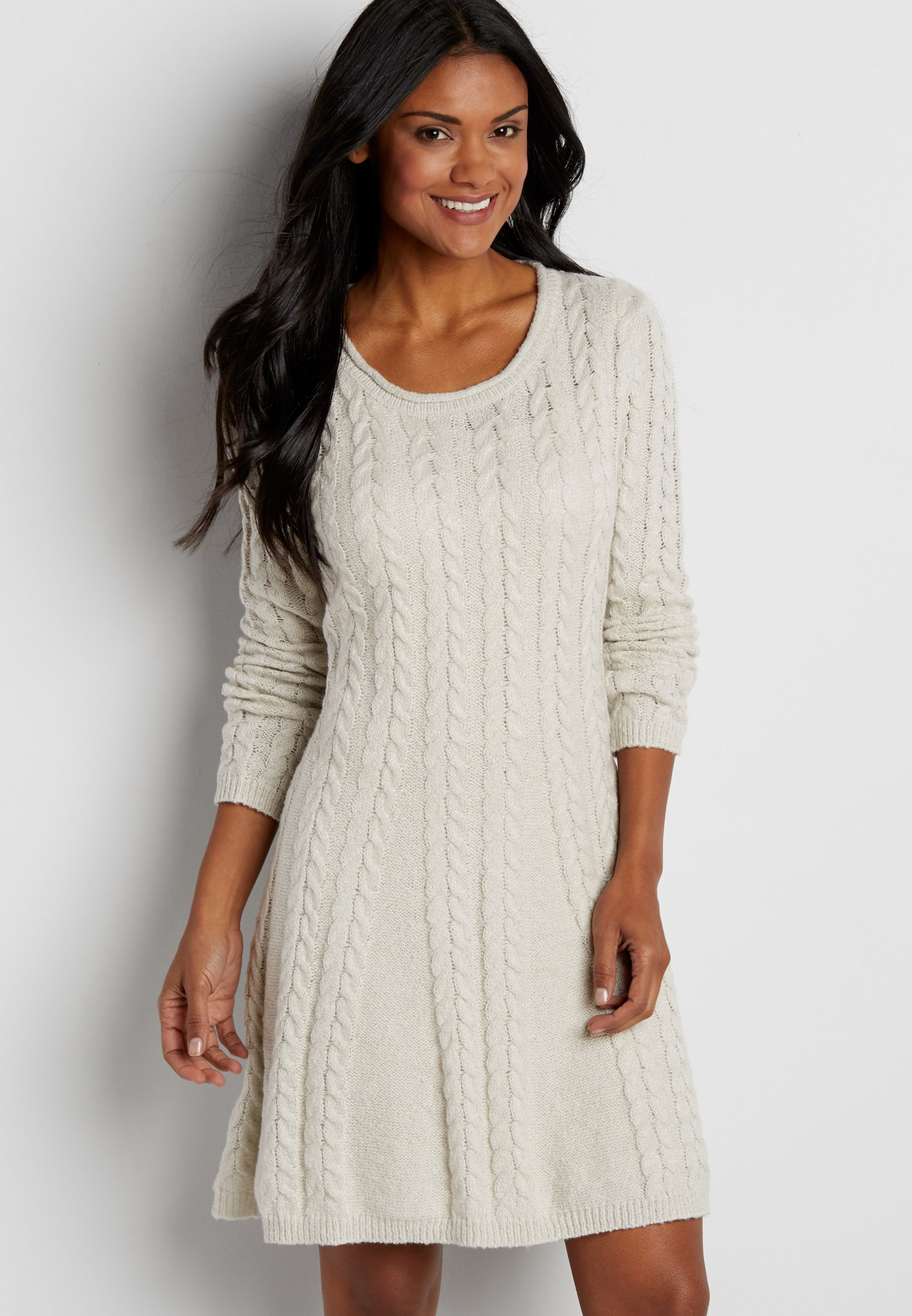 27++ Cable knitted dress info