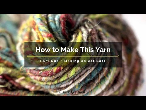 Here is a video on how to make and art batt to spin this art yarn.