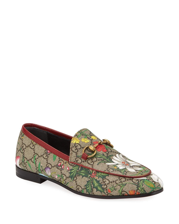 Canvas loafers, Gucci jordaan