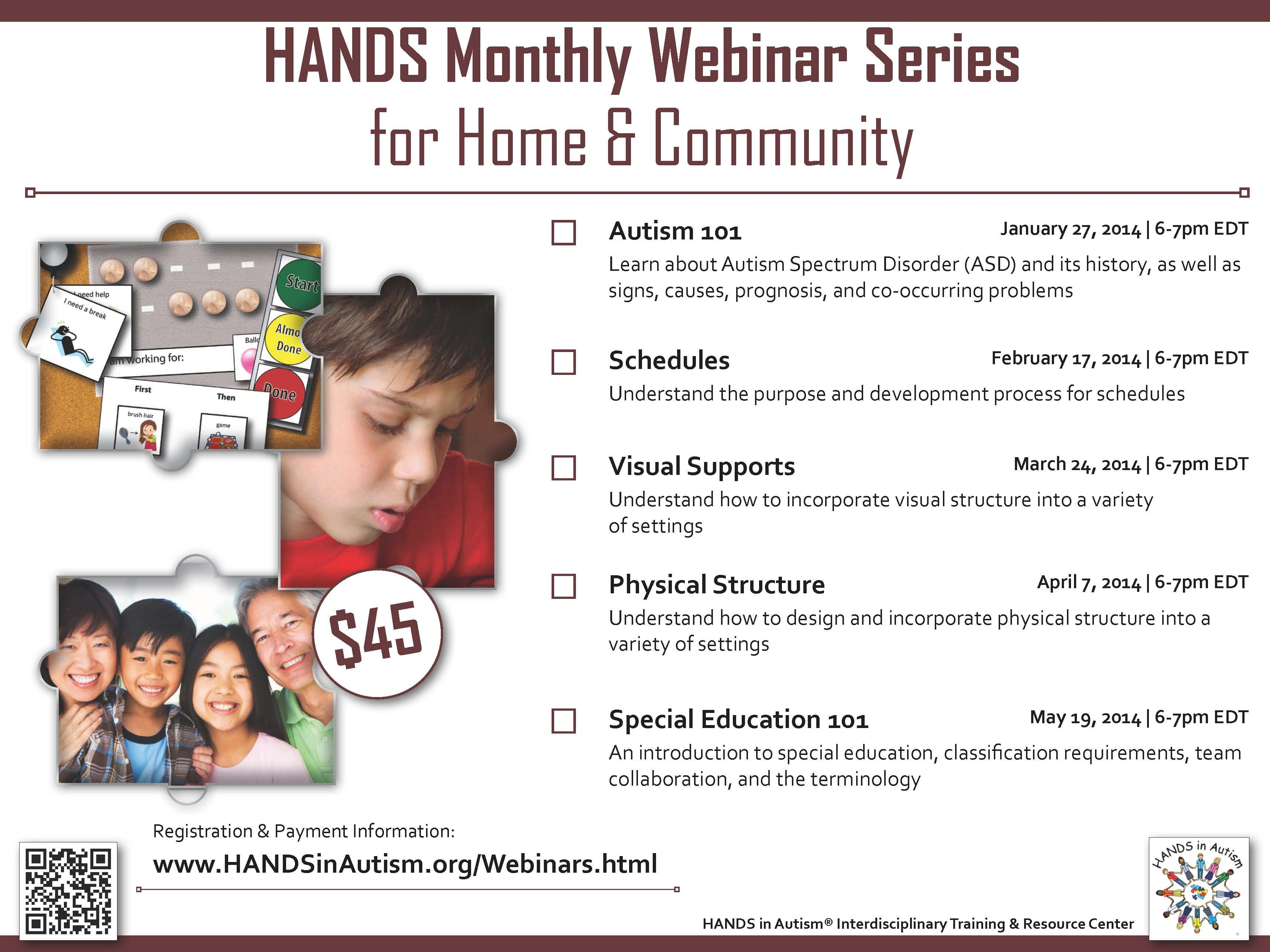 Monthly webinar series for home community available now