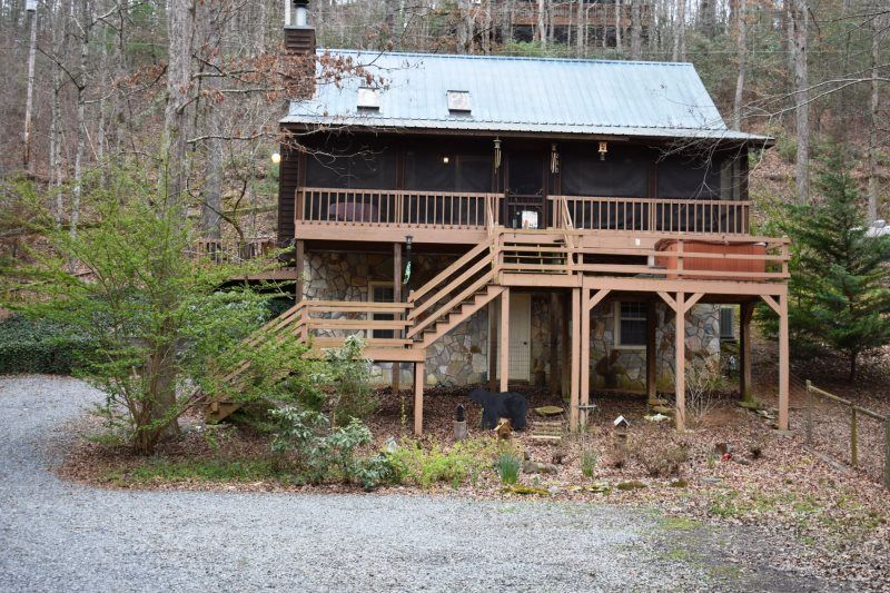 Creekside Cove 2br 2ba Awesome Cabin On Creek Sleeps 8 Hot Tub Gas Grill Large Fenced Yard For Pets Wi Blue Ridge Cabin Rentals Blue Ridge Fenced In Yard