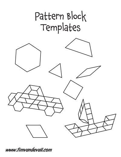 Free Pattern Block Printables - Mamas Learning Corner