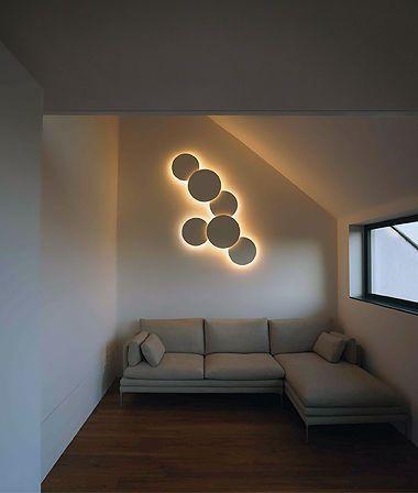 Incredible Shape Wall Light Art Modern Designing Living Room Decoration Backlit Interior Sofa Sl Contemporary Wall Lights Wall Lamp Design Home Interior Design