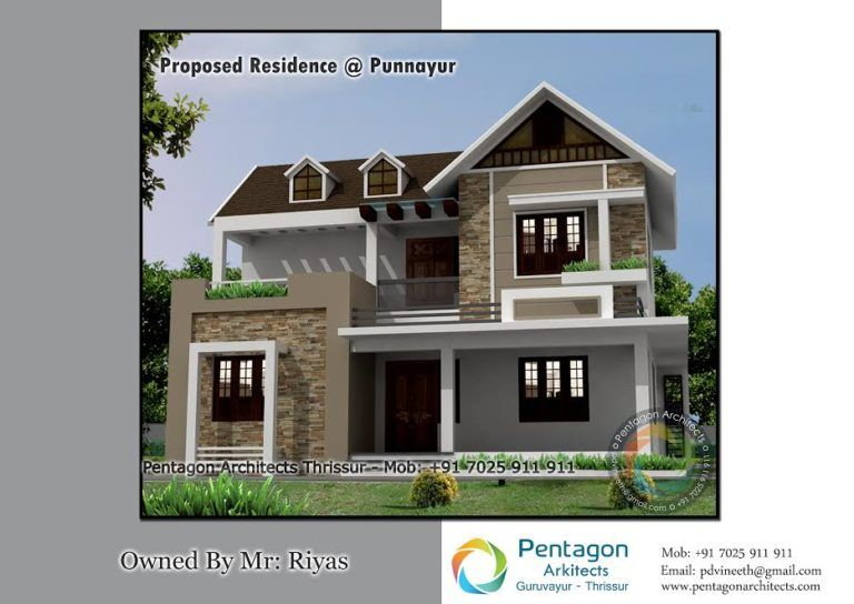 1026 Sq Ft 3 Bhk Single Floor Beautiful House And Plan Cost 15 Lacks Home Pictures In 2020 Small House Roof Design House Roof Design Contemporary House Design