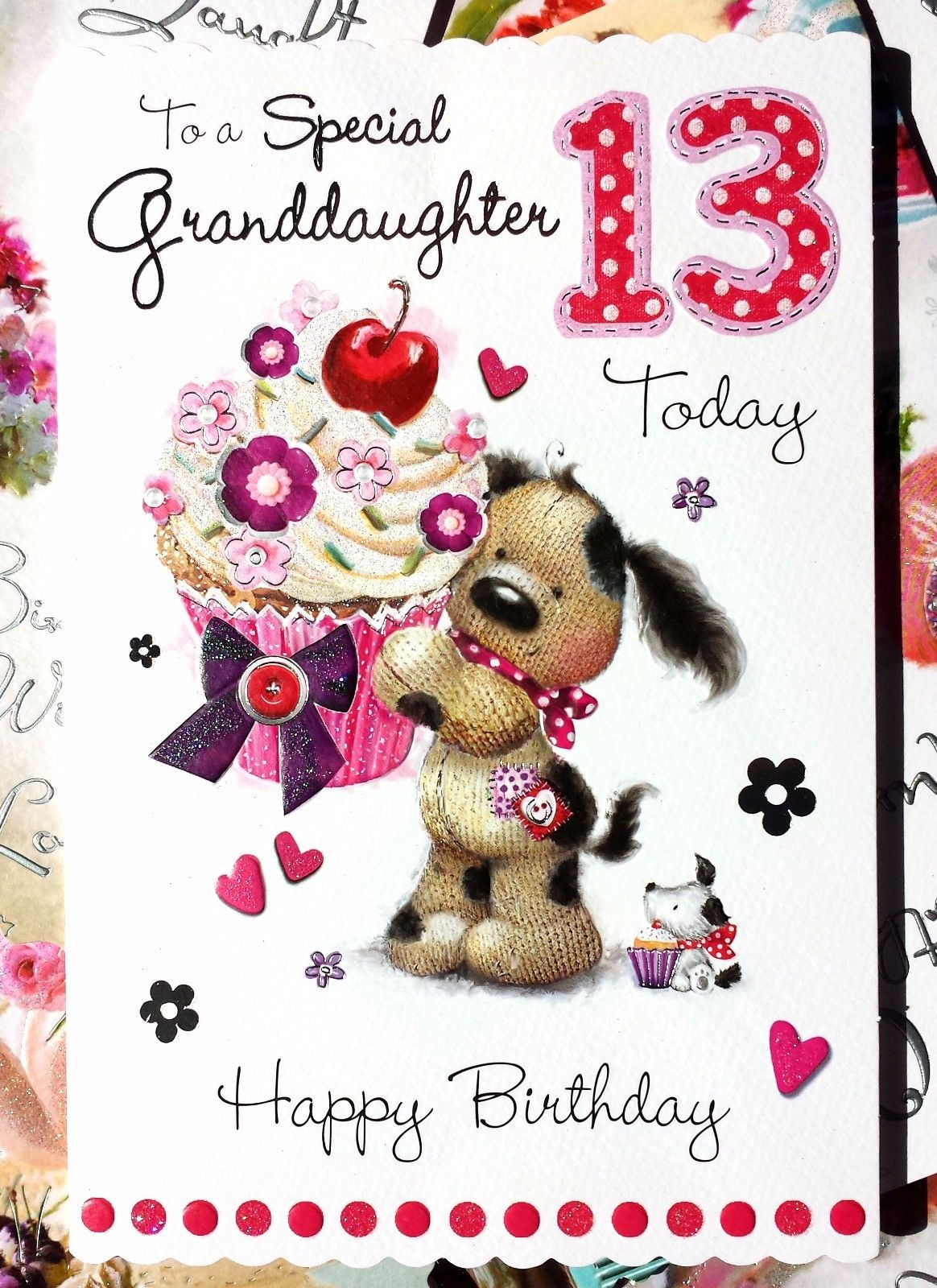 3 79 Gbp To A Special Granddaughter 13 Today Happy Birthday Cute 13th Birthday Card Happy 13th Birthday Happy Birthday Images Birthday Wishes For Daughter