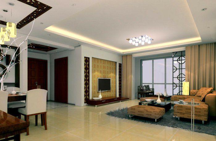 deckenbeleuchtung wohnzimmer deckenleuchte offener wohnplan - deckenleuchte wohnzimmer design