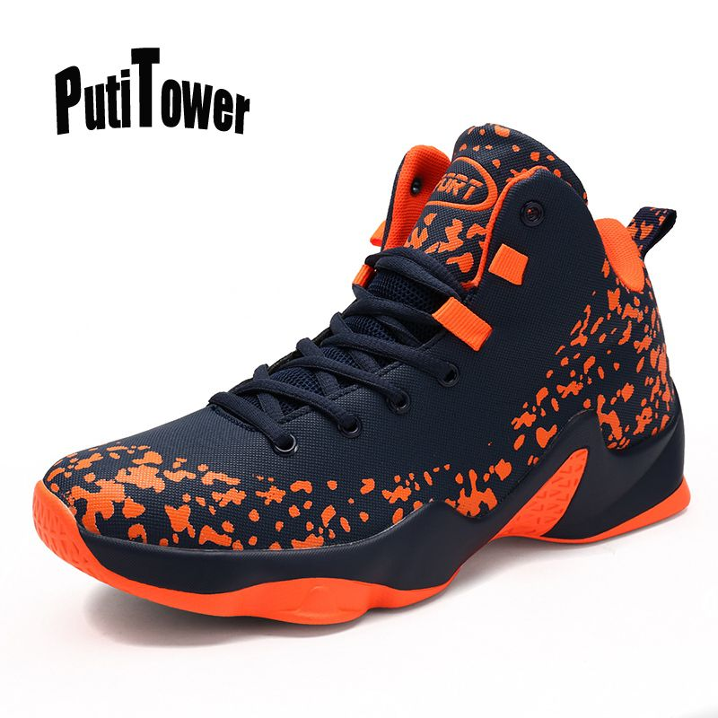 Mens Basketball Shoes Cushioning Sneakers Sports Boot High Top Breathable