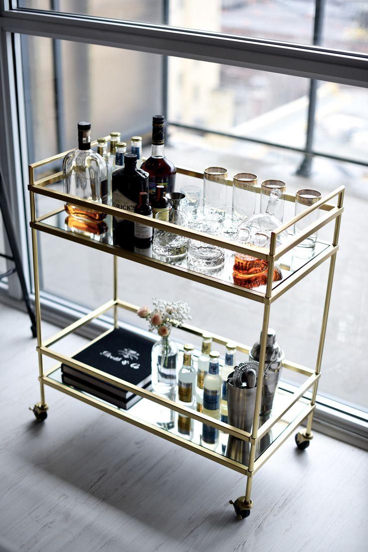12 Best Bar Cart Ideas   How To Make Diy Custom Bar Cart