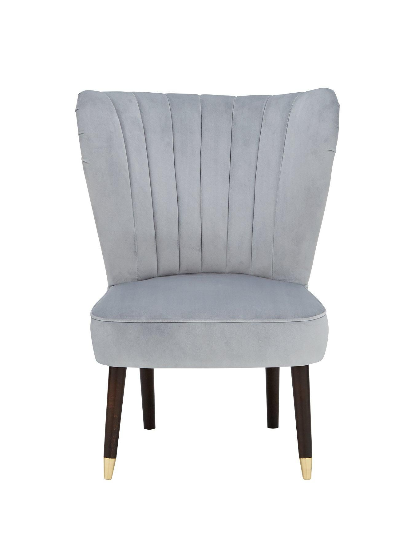 Michelle Keegan Home Sabina Fabric Accent Chair In Grey Accent