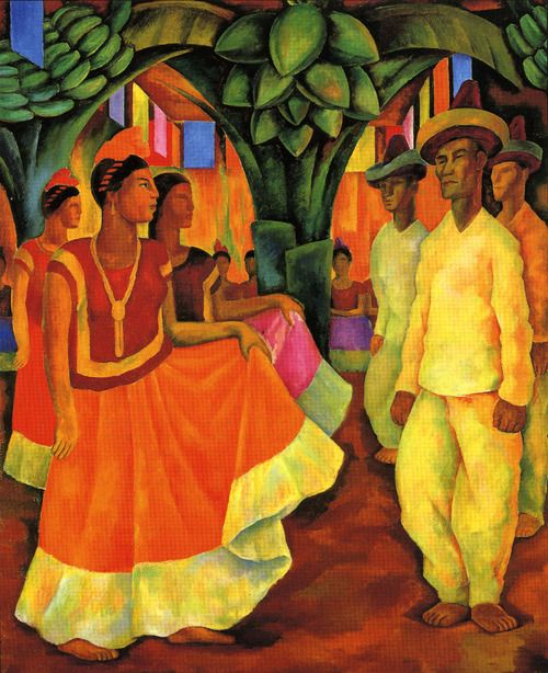 Diego Rivera, Dance in Tehuantepec, 1928