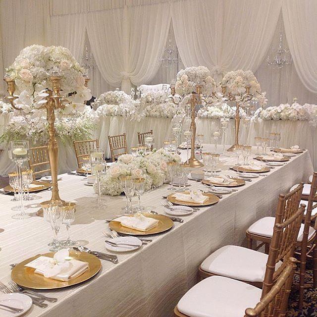 Glamorous Gold And Ivory Wedding Theme: This Beautiful Venetian Wedding Theme By @riasdesignsinc