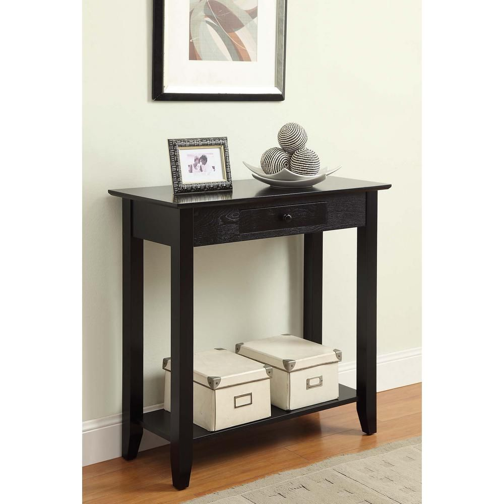 best sneakers 0334f 36870 Convenience Concepts American Heritage Black Hall Table ...