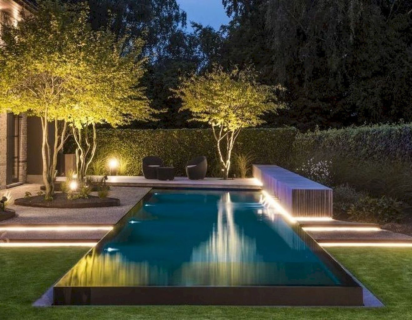 Fantastic Swimming Pool Lights Are Vital For Limitless Swimming Day And Night Time Backyard Pool Landscaping Backyard Pool Swimming Pool Lights