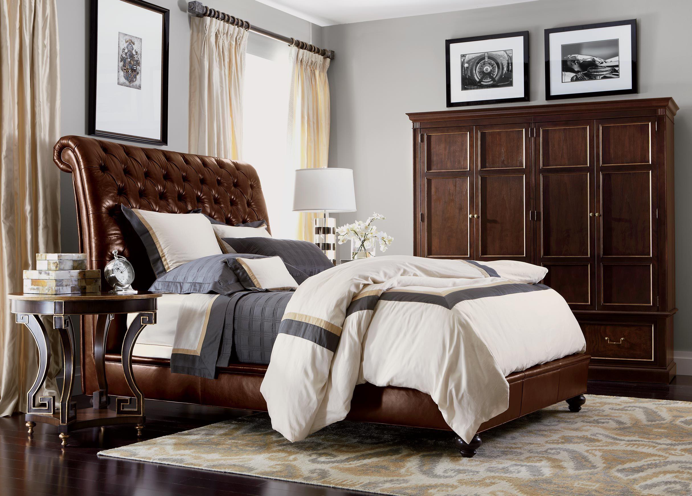 Deluxe Comfort Bedroom Ethan Allen Brown furniture