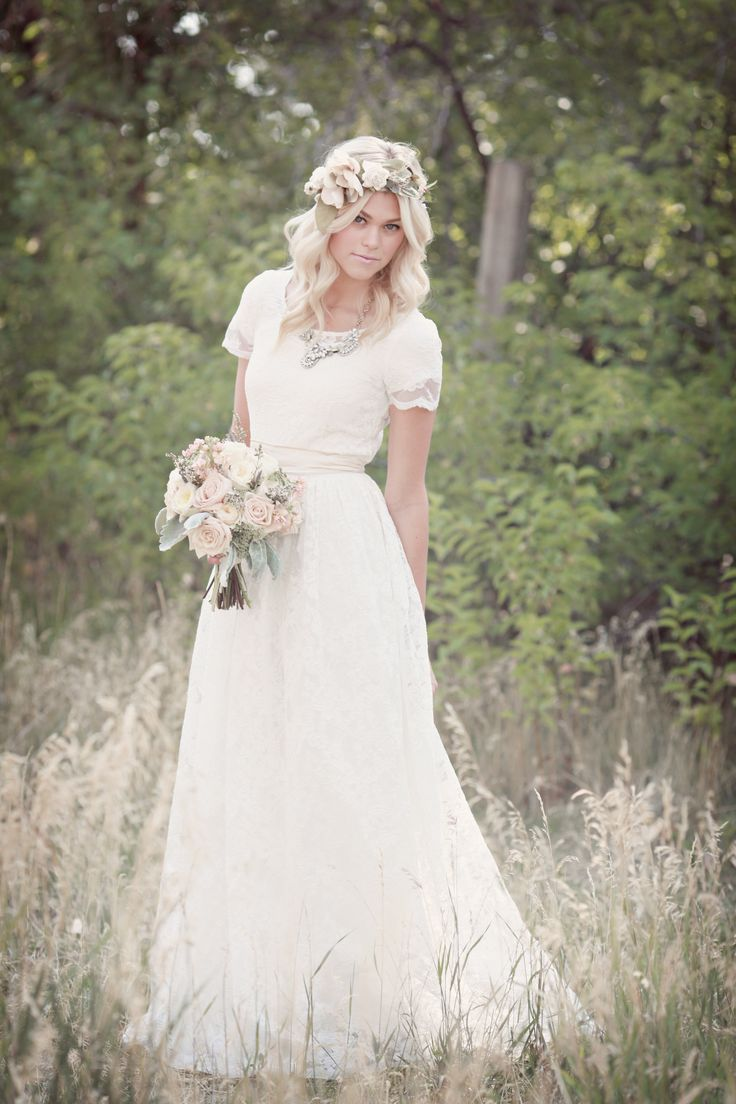 Airy lace modest wedding gown modsia pinterest modest airy lace modest wedding gown ombrellifo Images