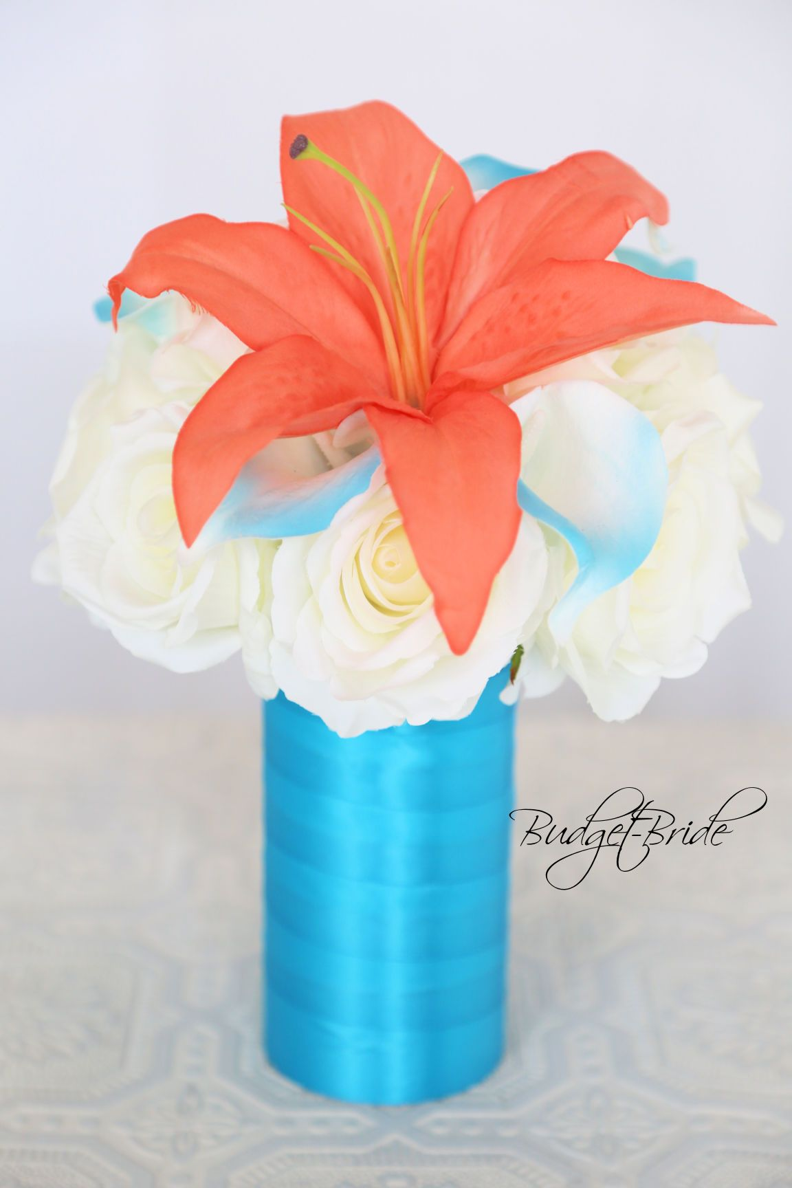 Beach Theme Wedding Flower Reception Centerpiece With Coral Reef And