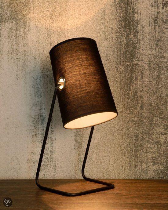 Lucide Bost Tafellamp E14 Zwart Tafellamp Staal Lampen