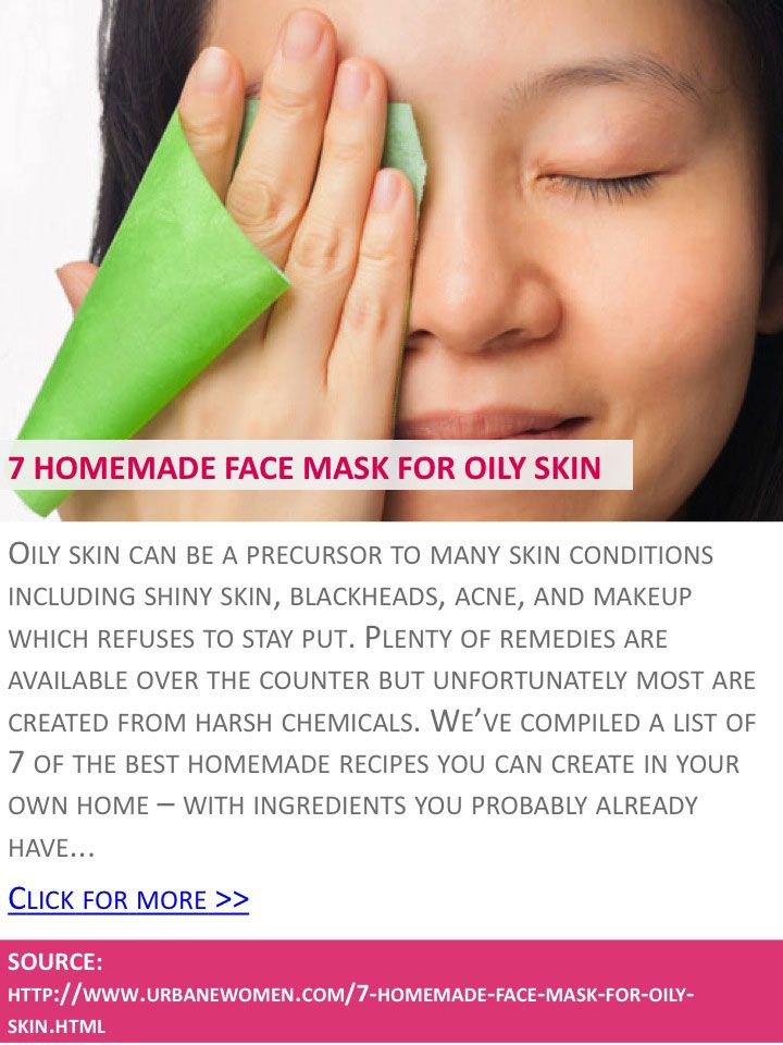 Facial homemade mask oily skin