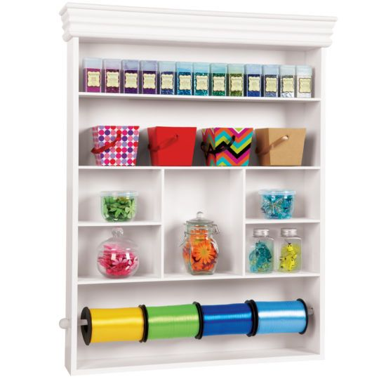 Craft/Wrapping Station. Michealu0027s: This Wall Mounted Storage Center Is The  Perfect