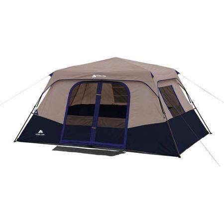 Ozark Trail 13 X 9 8 Person Instant Cabin Tent Walmart Com Family Tent Camping Cabin Tent Cabin Camping
