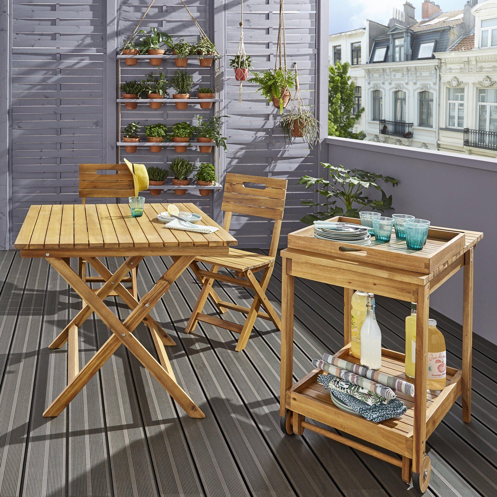20 Meubles Chics Et Pratiques Pour Le Balcon Chaises Bois Mobilier Jardin Et Terrasse Jardin