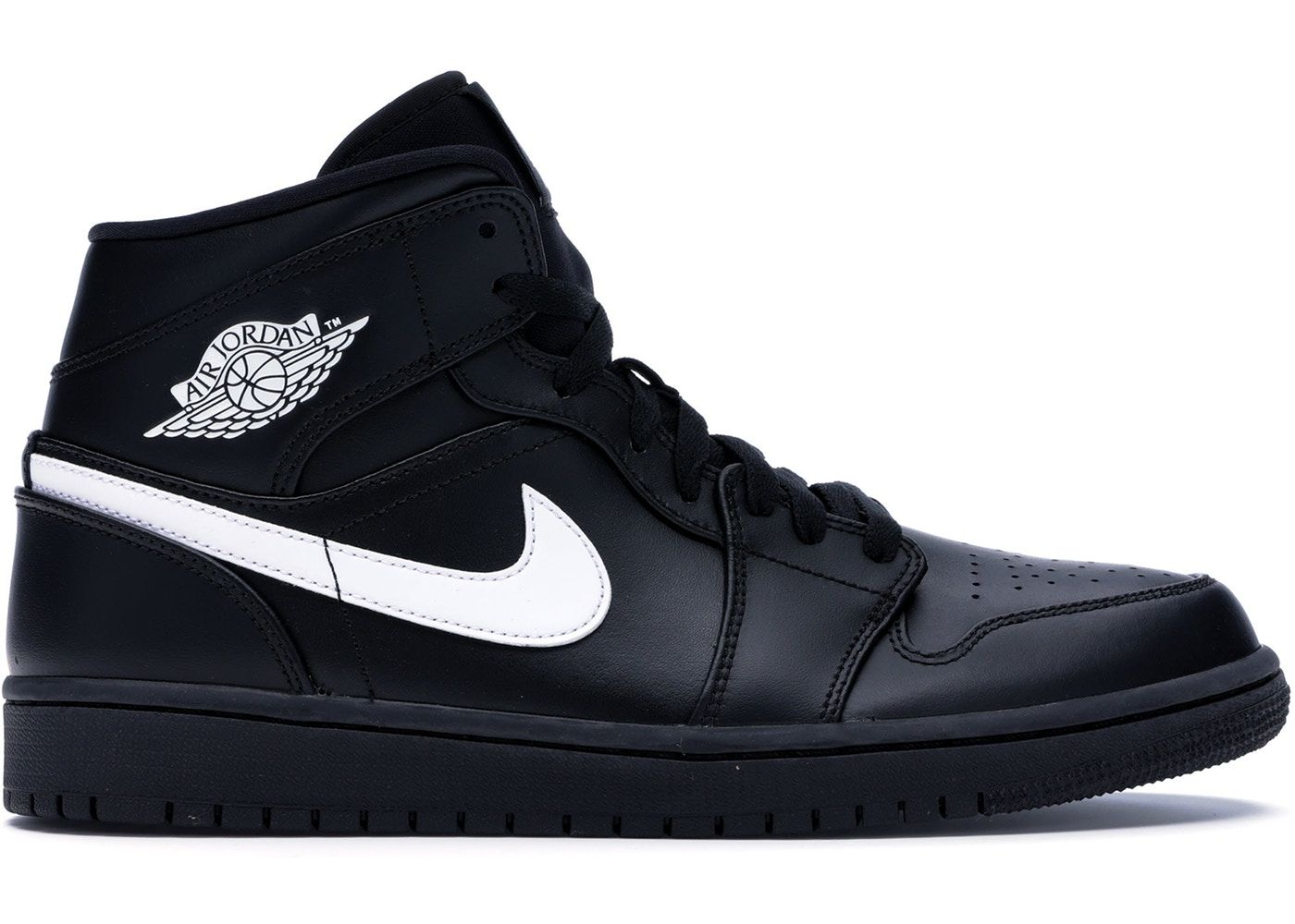 Jordan 1 Mid Black White (2018) in 2020 Jordan 1 mid