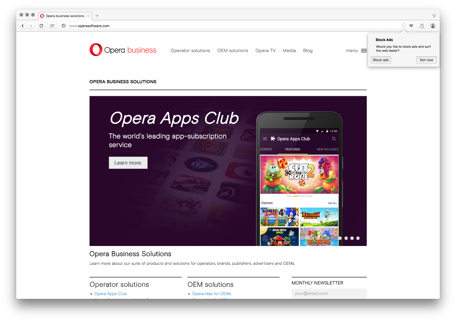 Opera Bakes Ad Blocking Technology Into Its Browse Ad Block Ads Best News Sources