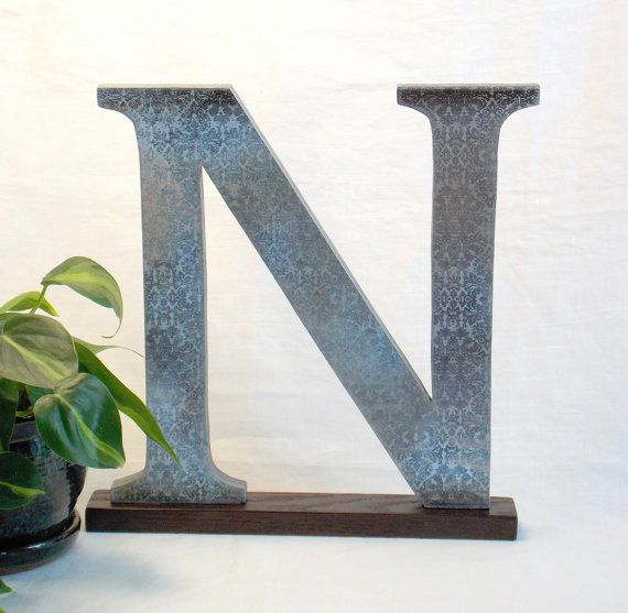 Letter N - Freestanding Wooden Letter - Wood Letter Decor - Freestanding Letter - Wood Letter - Wooden Letter - Wood Initial - Rustic Letter