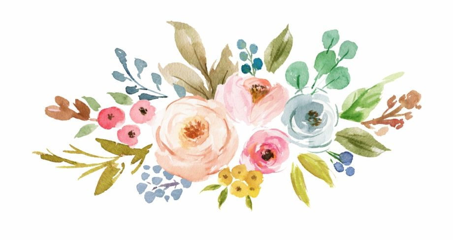 Ink Colorful Transparent Hand Painted Flowers Png Transparent