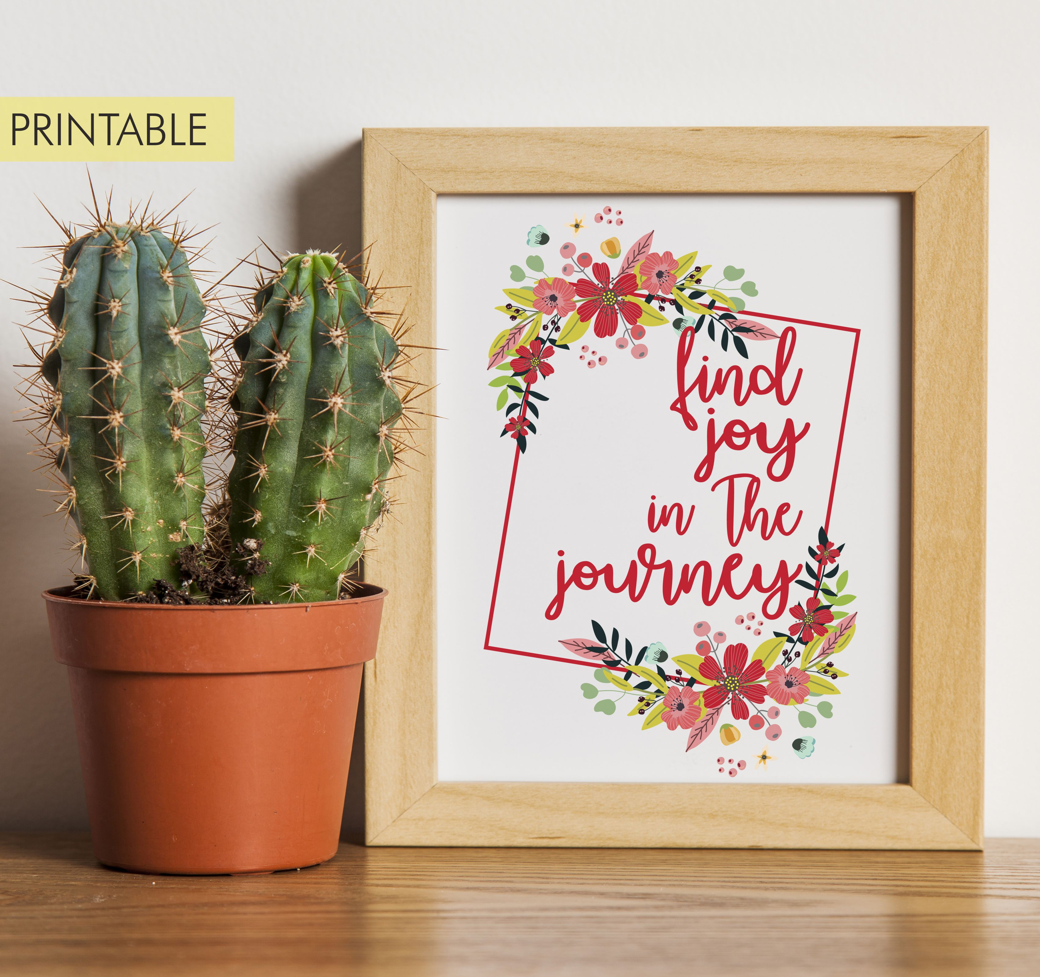 Printable Find Joy In The Journey Instant Download Wall Art Modern