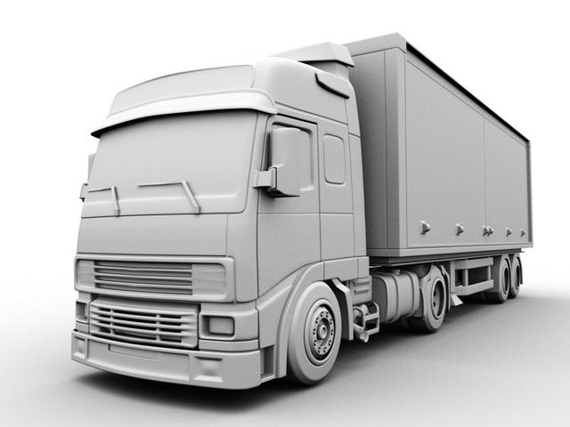 Freightliner Box Truck 3d Model Maya Files Free Download Modeling 42316 On Cadnav 3d Model Freightliner Model