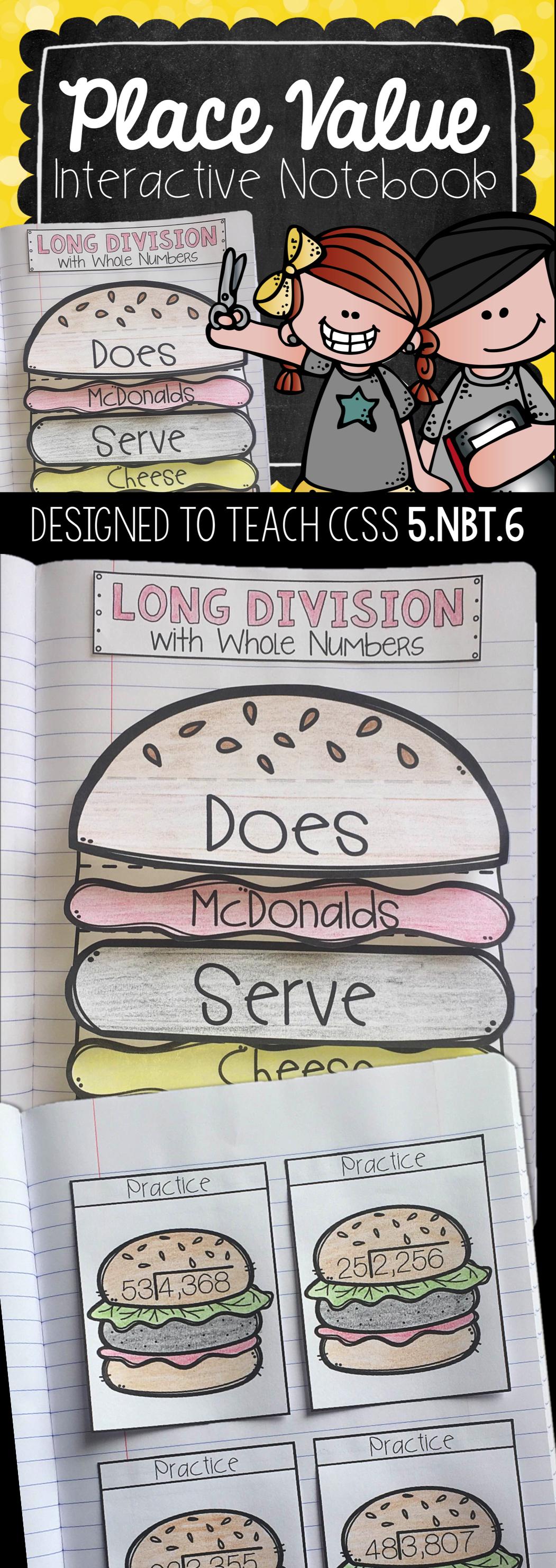 Division Interactive Notebook 5 Nbt 6