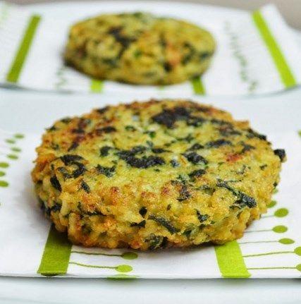 Hamburguesas de arroz integral espinacas y nueces hazlo - Comidas vegetarianas ricas ...