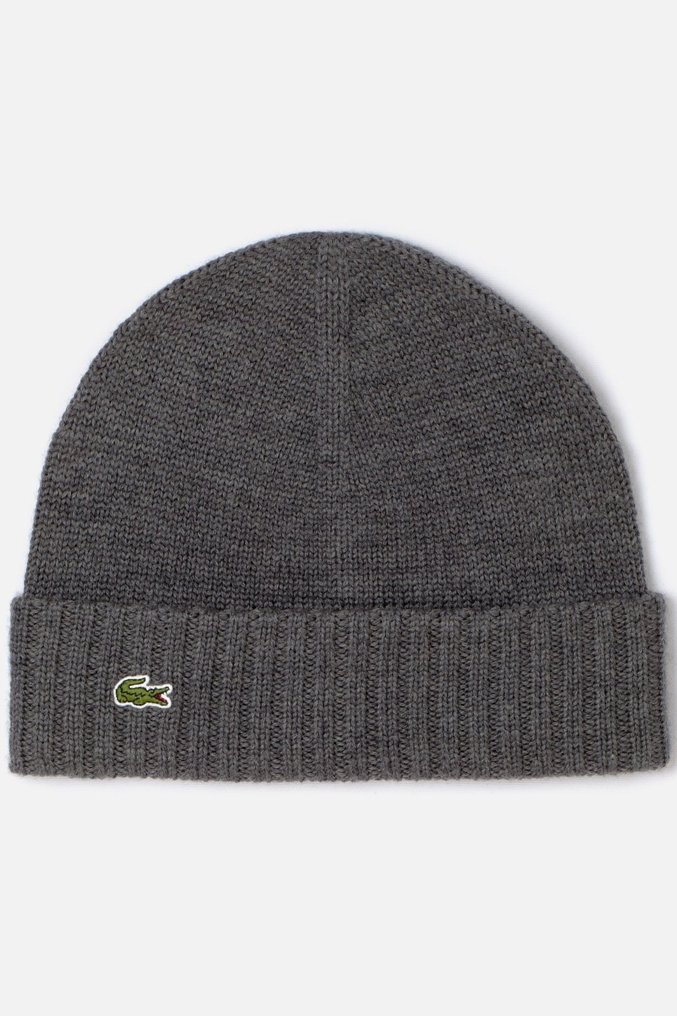 b922a43677a Lacoste Men s Green Croc Merino Knit Beanie   Caps   Hats